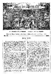Aus der Heimath. Ein naturwissenschaftliches Volksblatt, 1859, No. 47.