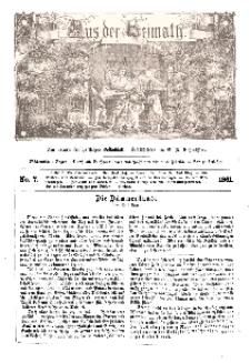 Aus der Heimath. Ein naturwissenschaftliches Volksblatt, 1861, No. 7.