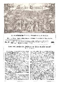 Aus der Heimath. Ein naturwissenschaftliches Volksblatt, 1861, No. 17.