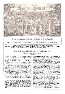 Aus der Heimath. Ein naturwissenschaftliches Volksblatt, 1861, No. 23.