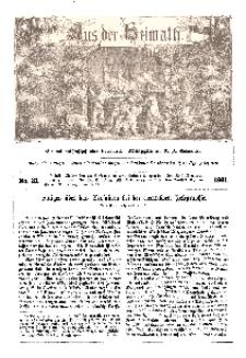 Aus der Heimath. Ein naturwissenschaftliches Volksblatt, 1861, No. 31.