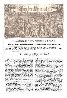 Aus der Heimath. Ein naturwissenschaftliches Volksblatt, 1861, No. 39.