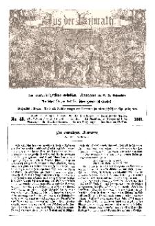 Aus der Heimath. Ein naturwissenschaftliches Volksblatt, 1861, No. 45.