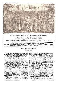 Aus der Heimath. Ein naturwissenschaftliches Volksblatt, 1861, No. 46.