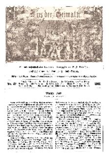 Aus der Heimath. Ein naturwissenschaftliches Volksblatt, 1861, No. 47.