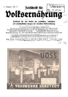 Zeitschrift für Volksernährung, 17. Jg. 1942, H. 10.