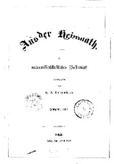 Aus der Heimath. Ein naturwissenschaftliches Volksblatt, 1862, No. 1.