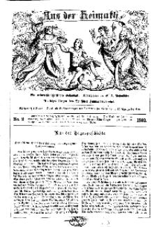 Aus der Heimath. Ein naturwissenschaftliches Volksblatt, 1862, No. 2.
