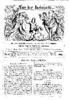 Aus der Heimath. Ein naturwissenschaftliches Volksblatt, 1862, No. 27.