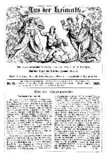 Aus der Heimath. Ein naturwissenschaftliches Volksblatt, 1862, No. 31.