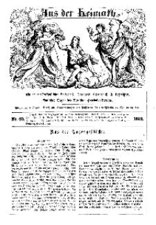 Aus der Heimath. Ein naturwissenschaftliches Volksblatt, 1862, No. 40.
