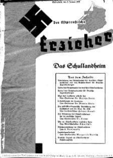 Der Ostpreussische Erzieher : das Schullandheim , 1935, H. 1.
