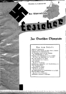 Der Ostpreussische Erzieher : das Schullandheim , 1935, H. 7.