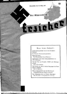 Der Ostpreussische Erzieher : das Schullandheim , 1935, H. 13.