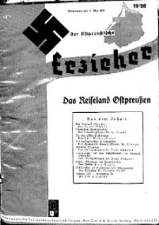 Der Ostpreussische Erzieher : das Schullandheim , 1935, H. 19/20.