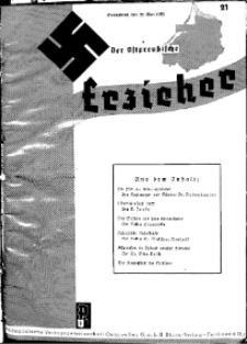 Der Ostpreussische Erzieher : das Schullandheim , 1935, H. 21.
