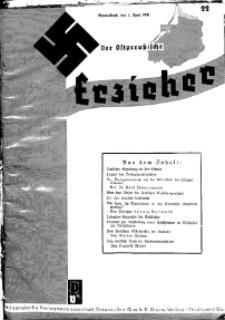 Der Ostpreussische Erzieher : das Schullandheim , 1935, H. 22.