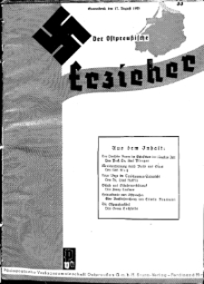 Der Ostpreussische Erzieher : das Schullandheim , 1935, H. 33.