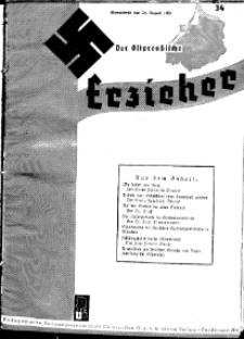 Der Ostpreussische Erzieher : das Schullandheim , 1935, H. 34.