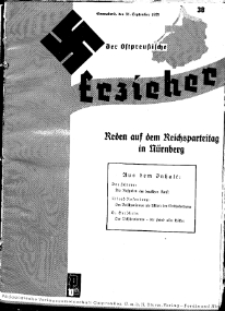 Der Ostpreussische Erzieher : das Schullandheim , 1935, H. 38.