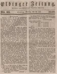 Elbinger Zeitung, No. 83 Montag, 13. Juli 1846