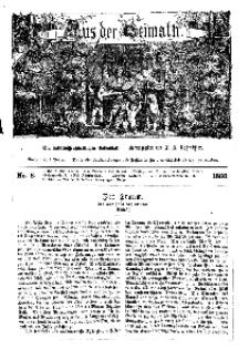 Aus der Heimath. Ein naturwissenschaftliches Volksblatt, 1860, No. 8.