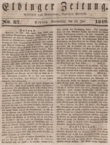 Elbinger Zeitung, No. 87 Donnerstag, 23. Juli 1846