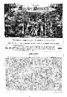 Aus der Heimath. Ein naturwissenschaftliches Volksblatt, 1860, No. 27.
