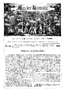 Aus der Heimath. Ein naturwissenschaftliches Volksblatt, 1860, No. 34.