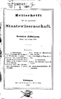 Zeitschrift für die gesammte Wissenschaft, 1853, H. 3/4.