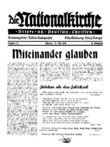Die Nationalkirche : Briefe an Deutsche Christen, Jg. 10, 1941, H. 20.