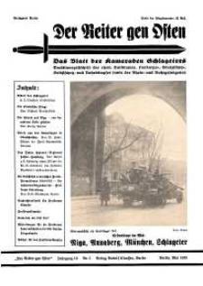 Der Reiter Gen Osten : das Blatt der Kameraden Schlageters, Jg. 10, 1939, H. 5.