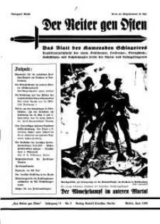 Der Reiter Gen Osten : das Blatt der Kameraden Schlageters, Jg. 10, 1939, H. 6.