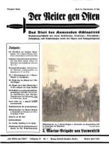 Der Reiter Gen Osten : das Blatt der Kameraden Schlageters, Jg. 10, 1939, H. 7.