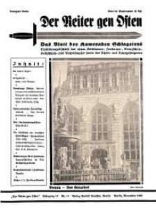 Der Reiter Gen Osten : das Blatt der Kameraden Schlageters, Jg. 10, 1939, H. 11.