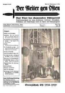 Der Reiter Gen Osten : das Blatt der Kameraden Schlageters, Jg. 9, 1938, H. 3.