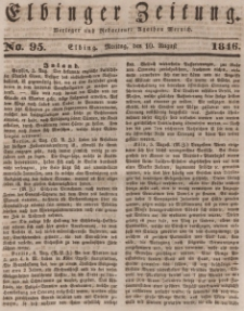Elbinger Zeitung, No. 95 Montag, 10. August 1846