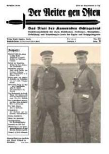 Der Reiter Gen Osten : das Blatt der Kameraden Schlageters, Jg. 9, 1938, H. 8.