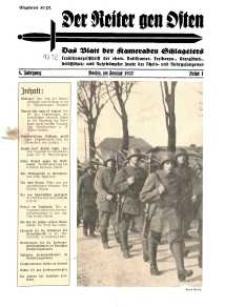 Der Reiter Gen Osten : das Blatt der Kameraden Schlageters, Jg. 8, 1937, H. 1.