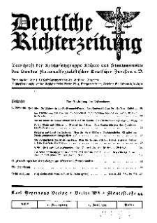 Deutsche Richterzeitung, Jg. 27, 1935, H. 6.