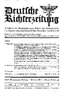 Deutsche Richterzeitung, Jg. 27, 1935, H. 7.