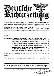 Deutsche Richterzeitung, Jg. 27, 1935, H. 10.