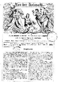 Aus der Heimath. Ein naturwissenschaftliches Volksblatt, 1863, No. 1.