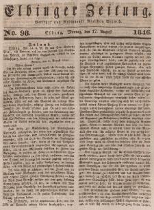 Elbinger Zeitung, No. 98 Montag, 17. August 1846