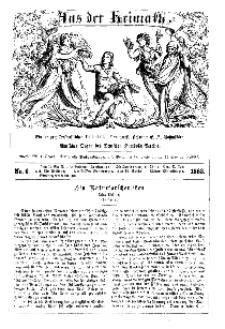 Aus der Heimath. Ein naturwissenschaftliches Volksblatt, 1863, No. 6.