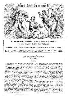 Aus der Heimath. Ein naturwissenschaftliches Volksblatt, 1863, No. 7.