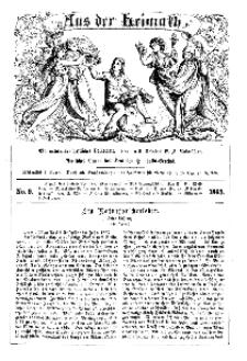 Aus der Heimath. Ein naturwissenschaftliches Volksblatt, 1863, No. 9.