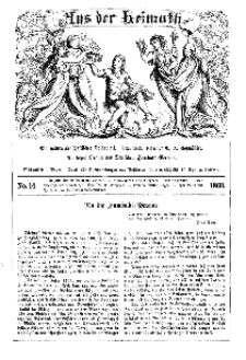 Aus der Heimath. Ein naturwissenschaftliches Volksblatt, 1863, No. 14.