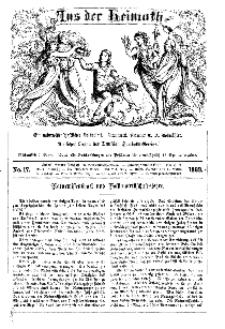 Aus der Heimath. Ein naturwissenschaftliches Volksblatt, 1863, No. 17.