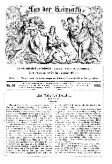 Aus der Heimath. Ein naturwissenschaftliches Volksblatt, 1863, No. 26.